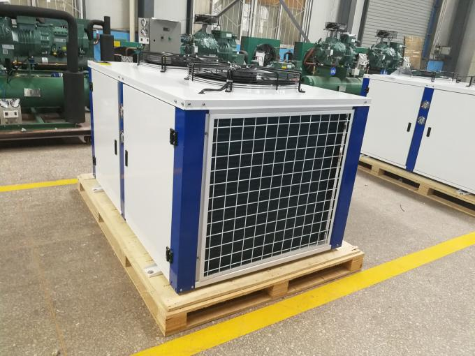 Low Noise Freezer Bitzer Compressor Condensing Unit Air Cooled For Cold Room