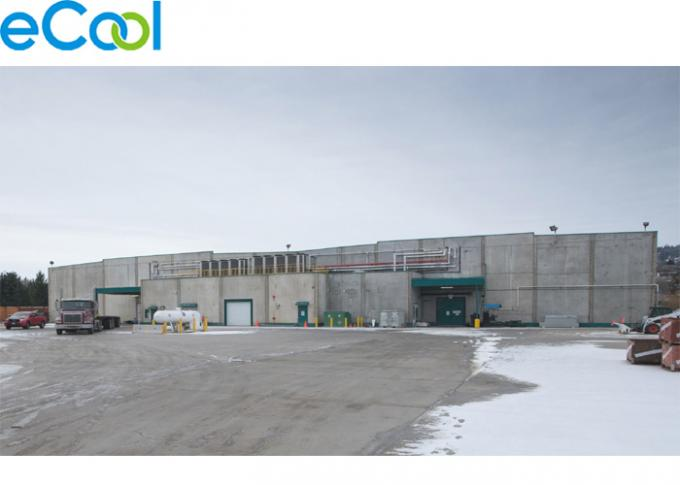 3000 Tons Steel Structure Cold Storage For Vegetables Distribution Center PU Panel Assembling