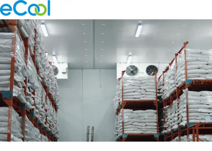 Frozen Fishes And Meat Cold Room Warehouse With Fire Proof Grade B2 PU Panel