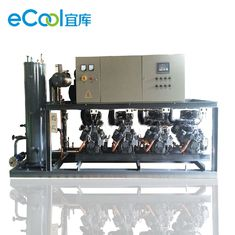 Piston Parallel Refrigeration Compressor Unit , 100HP Bizter Low Temperature Compressor Set