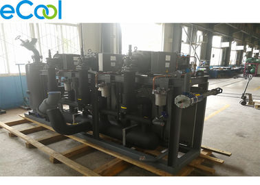 PLC Control Refrigeration Compressor Unit For Fruit And Vegetable Cold Room
