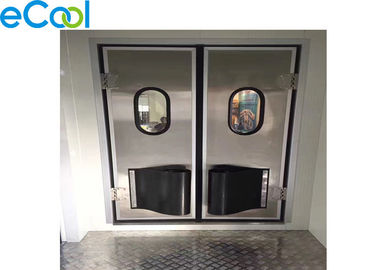 SGS Stainless Steel PU Panel JP Free Style Anti Collision Door For Cold Storage