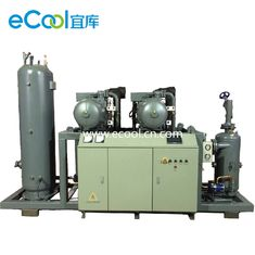 High Temperature Screw Parallel Compressor Unit with PLC for Refrigeration System-Single Compressor Single Stage