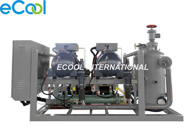 Parallel Refrigerating Compressor Set , High Temperature Refrigeration Screw Compressor Unit