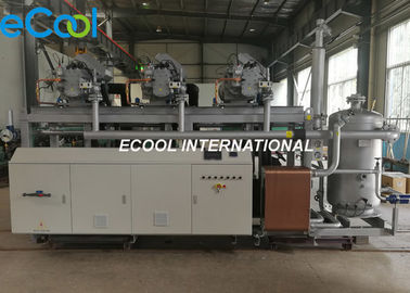 375Hp Screw Compressor Used In Refrigerator , Low Temperature Parallel Fridge Compressor Unit