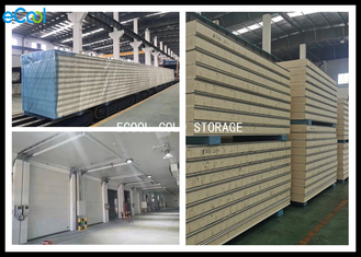 Waterproof Insulated Wall Panels Cold Room / Gray 25mm Coolroom Panels