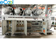 4 Heads 125HP Refrigeration Compressor Unit , High Temperature PLC Fridge Compressor Unit