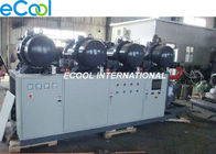 China Low Noise PLC Refrigeration Screw Compressor Unit 840HP High Temperature cold storage factory