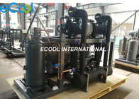Single Stage Screw Refrigeration Compressor Unit Parallel High Temperature