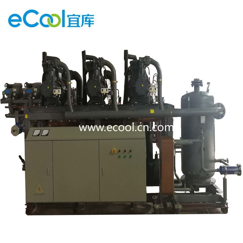 Low Noise Screw Parallel Refrigeration Compressor Unit For Cold Storage Refrigeration