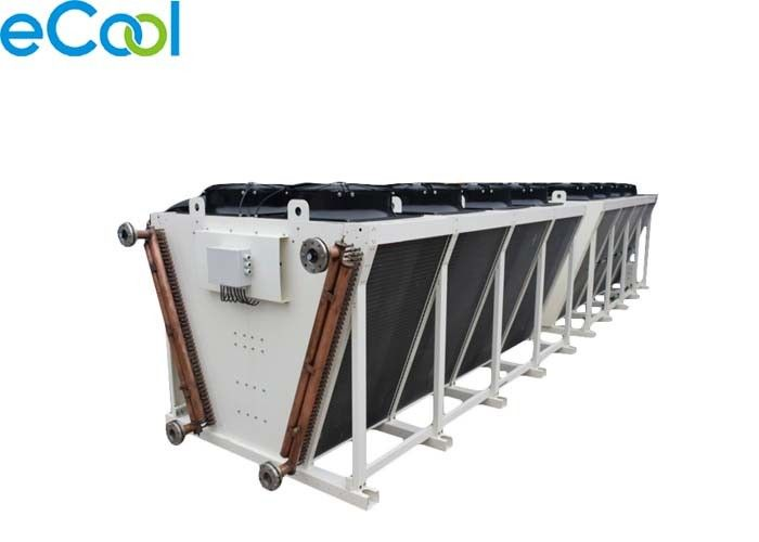 V - Shaped Air Cooled Condenser , High Efficiency Cold Storage Refrigeration Equipment