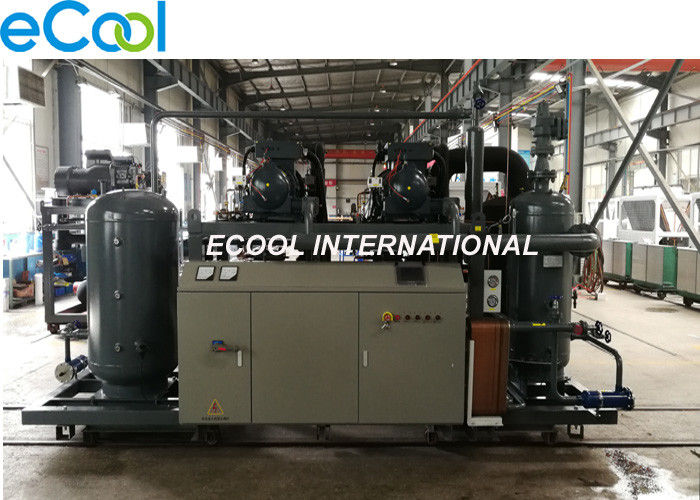 Refrigerating Capacity 360HP High Temperature Screw Parallel Compressors Unit for Food Cold Room