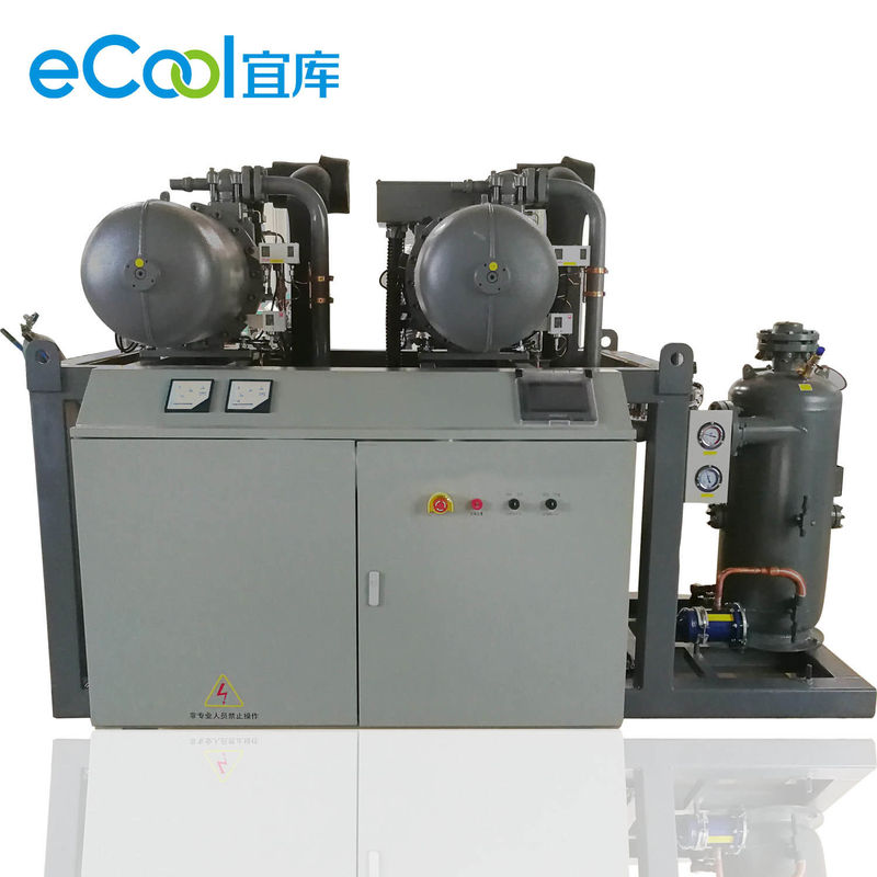 2pcs 90HP High Temperature Compressor Unit For Vegetables Cold Room Refrigeration System