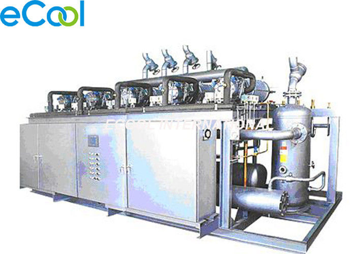 375HP Bizter Parallel Screw Compressor Unit  for Large Size Low Temperature Cold Storage Refrigeration System