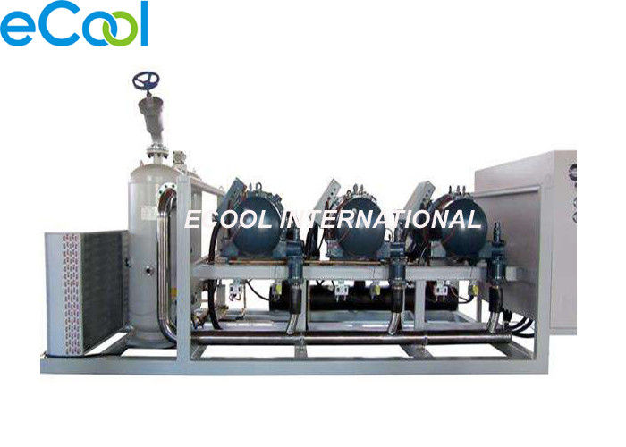 Low Temperature Refrigeration Compressor Unit Parallel Screw For Food Processing
