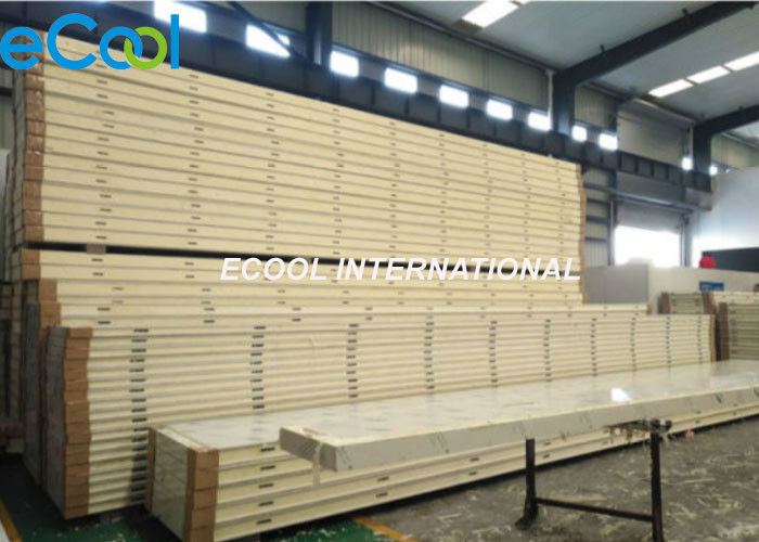 Eccentric Hook Cold Storage Panels Stainless Steel Thermal Insulation Polyurethane