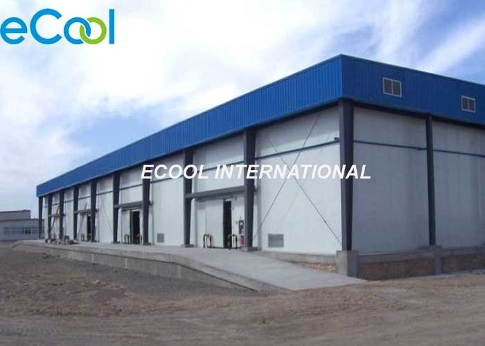 Steel Columns Cold Storage Frozen Food , Large Frozen Food Warehouse