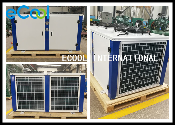 Piston Compressor Freezer Condenser Unit / Powerful Air Conditioner Condenser