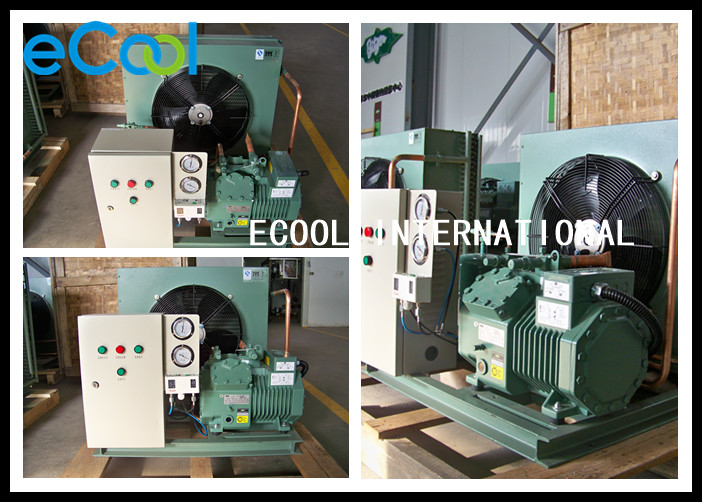 Commercial Freezer Condensing Unit Anti Corrosion Coated Casing Materials