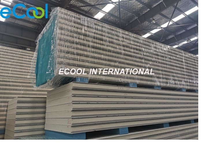 Thermal Insulation Pu Sandwich Panel , Insulated Cold Room Pu Panel